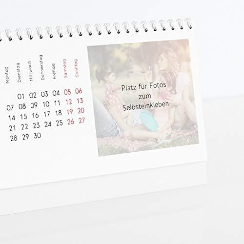 sendmoments Kalender zum Selbstgestalten 2021 mit Relieflack, Kalenderjahr, Bastelkalender zum Aufstellen, Querformat 260x120