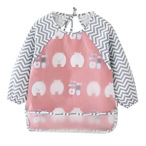 Happy Cherry Grembiule pittura bambini Impermeabile Bambino Bavaglino grembiule bambino bavaglini 2-3 anni