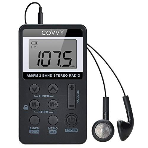 AM FM Pocket Radio HanRongDa Portable Digital Tuning AM/FM Mini Stereo...