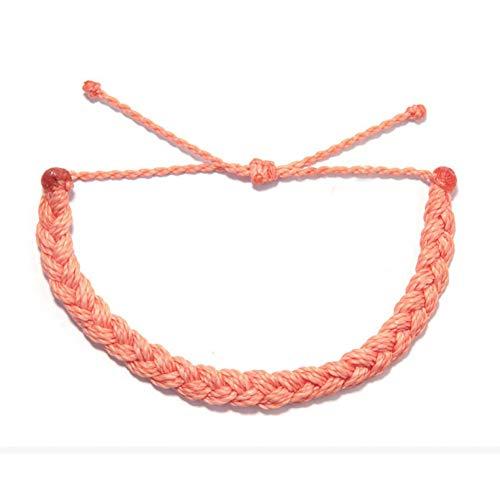 DMUEZW Top Joyas románticas Pulseras de Etiquetas de Metal para Mujeres Trenzadas Cuerda Cuerda Pulsera Pulsera Mujer
