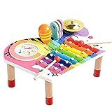 BeebeeRun Ensemble Instruments de Musique pour Bébé, Xylophone pour Enfants, Coffret Cadeau...
