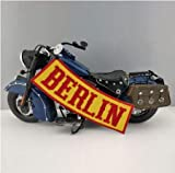 Bandidos Outlaw Berlin Rocker Embroidered Iron On Back of Jacket Patch Yellow Twill Fabric Eco-Friendly