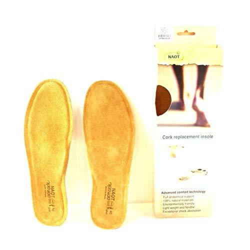 Naot Herren Fußbetten Executive Kork/Leder Einlegesohlen Schuhzubehör 15999, Größe:47 EU