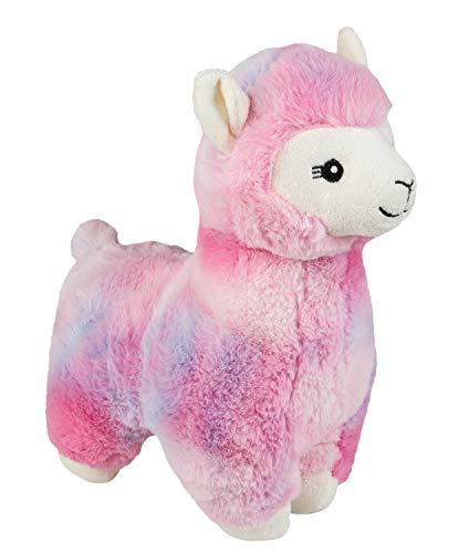 Plüschtier Alpaka, mit kuscheligem Fell, für Babys ab 12 Monaten, ca. 30 cm, pink