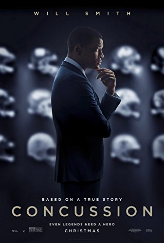 CONCUSSION MOVIE POSTER 1 Sided ORIGINAL Advance 27x40 WILL SMITH
