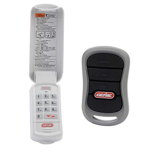 genie garage openers Genie Genuine Accessories Bundle - Combo Pack 3-Button Garage Door Opener Remote and Wireless Keypad - Works on Genie Intellicode Garage Door Openers - Model G3T-R, and GK-R