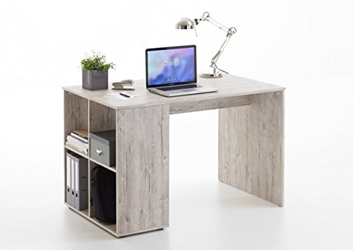 Wohnorama Gent Schreibtisch mit Regal von FMD Sandeiche by i