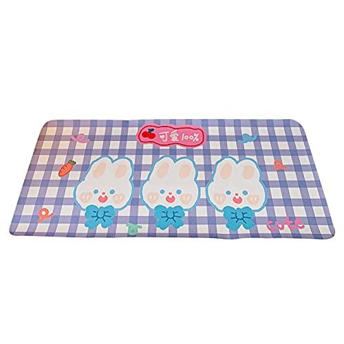 Alfombrilla de ratón Kawaii Alfombrilla de ratón Japonesa Linda Chica Mantel Individual Alfombrilla de Mesa Lindo Oso Conejo Alfombrilla de ratón