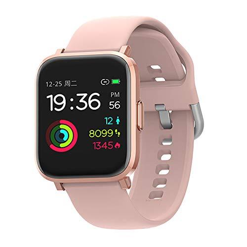 SmartWatch, Reloj Inteligente IP68 con Pantalla Táctil de 1.3'', Pulsera Actividad Inteligente Hombre Mujer Niños para Deporte, Monitor de Actividades, Podómetro Cronómetros para iOS Android,Rosado