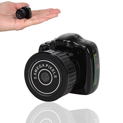 kunli Mini cámara espía oculta grabadora de vídeo digital portátil, visión nocturna, detección de movimiento