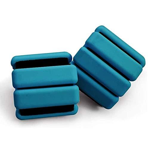 Pesos de tobillo, 2 pesos de muñeca, para piernas, para manos, ajustable, para piernas, para fitness, correr, caminar, ejercicio, gimnasia, aeróbic, entrenamiento de gimnasio (azul)