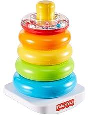 Fisher-Price GKD51 - Fisher-Price Rock-a-Stack, klassisk leksak för att stapla ringar