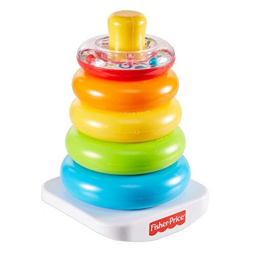 Fisher-Price Rock-a-Stack, juguete clásico de apilar aros para niños + 6 meses (Mattel GKD51)