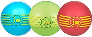 JW Pet Company iSqueak Ball Rubber Dog Toy, Large, Colors Vary (3 Pack)