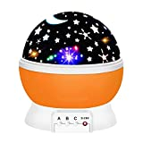 ATOPDREAM Birthday Presents for 2-10 Year Old Girls, Star Night Lights for Kids Toys for 2-10 Year Old Girls Halloween Presents Xmas Gifts Age 2-10 Stocking Stuffers Stocking Fillers Orange TSUSXK05