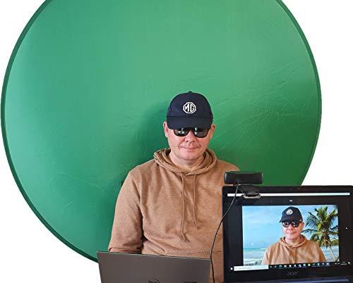 ChromaKey - Webcam portatile per videochat, zoom, videochiamate, per foto, rimozione dello sfondo, fissaggio su una sedia, pop-up, UK