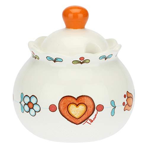 THUN ® - Zuccheriera - Porcellana - Linea Folk - h 10 cm