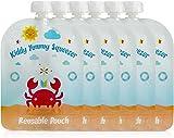 Bolsa reutilizable para alimentos - Bolsas recargables para bebés y niños de todas las edades. Paquete de 6 bolsas grandes
