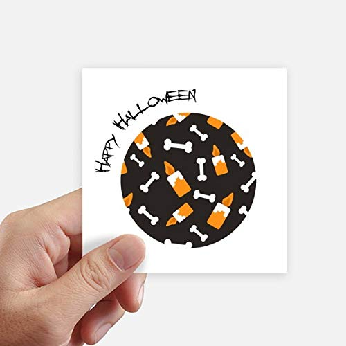 DIYthinker Kaars Been Halloween Halloween Vierkante Stickers 10Cm Wandkoffer Laptop Motobike Decal 8 Stks