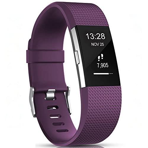 Gogoings Compatibile per Fitbit Charge 2 Cinturini - Braccialetto di Ricambio Morbido Regolabile Sport Cinturino Compatibile con Fitbit Charge2 per Donne e Uomini (Senza Orologio)