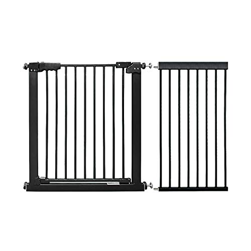Safety Gate Pressure Fit Baby Auto Close Extra Wide 127-137cm/50-53.9' Metal Stairs Pet Gate 78cm/30.7' Tall, Black