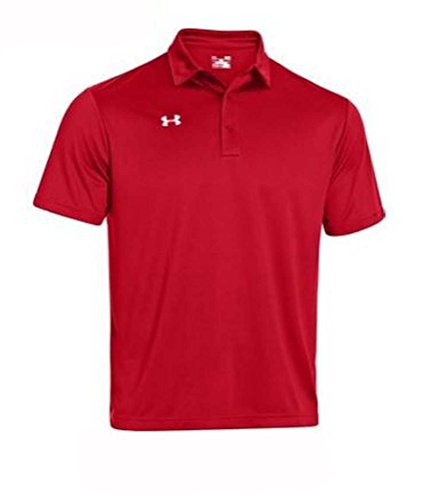 Under Armour Men's Every Team's Armour Polo, (Red/White, Large)