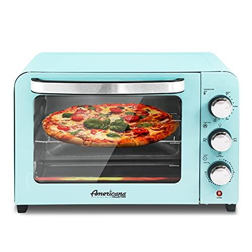 "Elite Gourmet Americana Fits 12"" Pizza, Vintage Diner 50's Retro Countertop Toaster oven Bake,..."