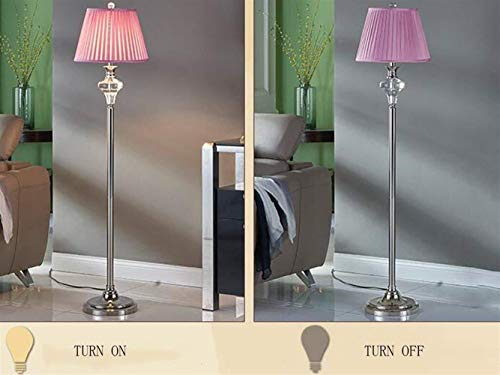HYY-YY Floor Lights Pink RVS stoffen kap European Style Floor Lights for Living Room Slaapkamer Nachtlampjes Modern Creative Fashion Lamp inbegrepen