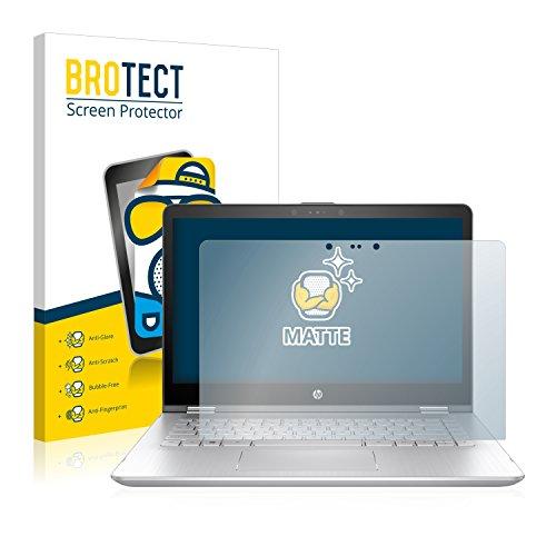 BROTECT Entspiegelungs-Schutzfolie kompatibel mit HP Pavilion x360 14-ba102ng Bildschirmschutz-Folie Matt, Anti-Reflex, Anti-Fingerprint
