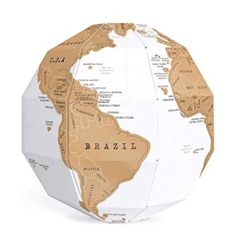 Fai da te Mappa dei graffi Assemblaggio 3D stereo Mappamondo del mondo Viaggio Viaggio bambino giocattolo Toy Kawaii Forniture per ufficio scuola (Dimensione : 20cm diameter)