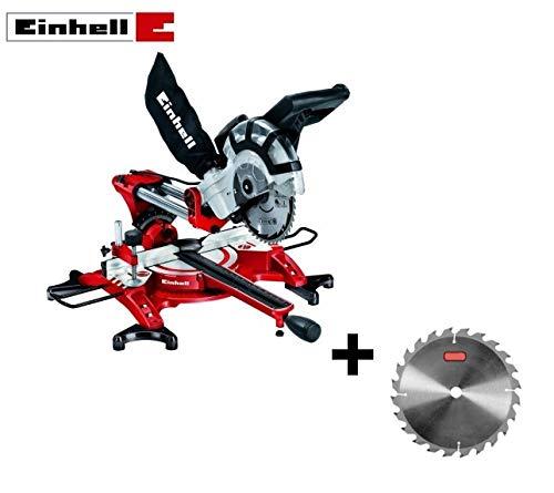 Troncatrice/Sega circolare radiale per legno 1800W 210mm con laser Einhell - TH-SM 2131 DUAL