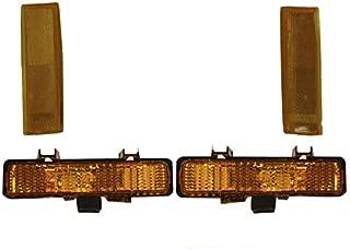 Front Bumper Park Signal Turn Side Marker Light 4Pcs For S10 Sonoma 1982-1993 GM2520109 GM2521109 GM2551108 GM2550116