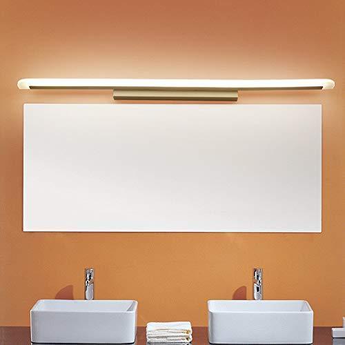 Luz delantera de espejo LED moderna y delgada, blanco frío 6000K 1200LM, luz de armario de espejo de baño de aluminio IP44, lámpara de pared de tocador de inodoro impermeable para baño, cocina interio