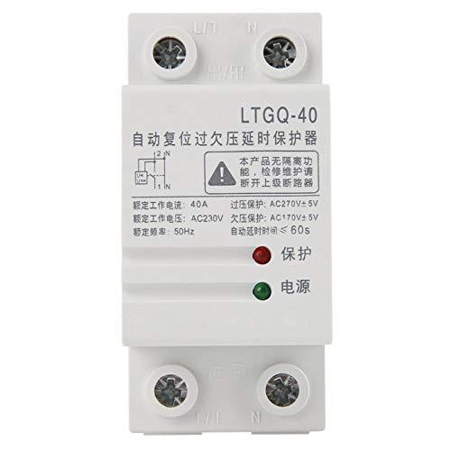 Relé de protección de 230V 2P40A, reconexión automática ajustable sobre voltaje y protección de bajo voltaje