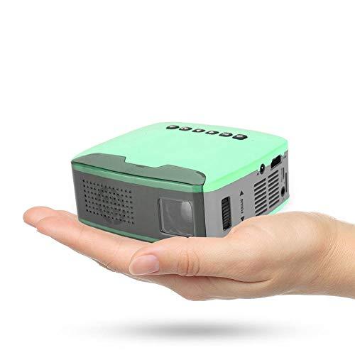 Mini HD projector, draagbare multimedia thuisbioscoop speler bioscoop beamer met 1080p 13ANSI lumen led en afstandsbediening voor huis/kantoor/entertainment, ondersteuning AV/HDMI/USB/TF, EU.