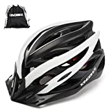 KINGBIKE Bike Helmet Men Women Bicycle Adult Cycling Specialized Road Mountain MTB Helmets for Mens Womens Adults Casco para Bicicleta with Safety Light Portable Bag Accessories M/L(56-60CM)