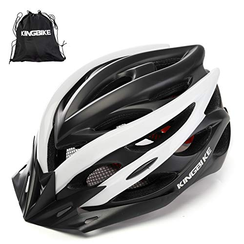 KING BIKE Fahrradhelm Helm Bike Fahrrad Radhelm mit LED Licht FüR Herren Damen Helmet Auf Die Helme Sportartikel Fahrradhelme GmbH RennräDer Mountain Schale Mountainbike MTB