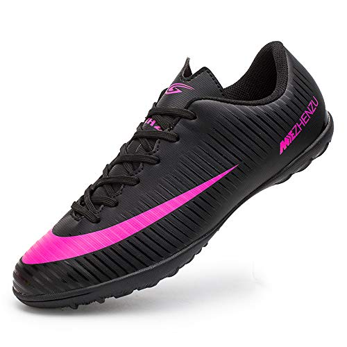 Zapatillas de fútbol Topoption para niños y adultos, profesionales, para entrenar al aire libre, para exteriores, atléticos, con tacos, unisex, color Negro, talla 38 EU