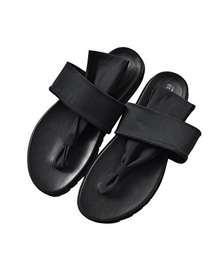 [ラゴンマ] フラットトングサンダル l(24cm-24.5cm) ブラック lgw-1-l-black