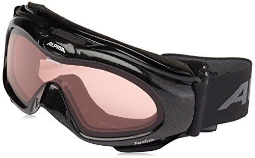 ALPINA Damen Skibrille Bonfire, Black, One size, 7010032