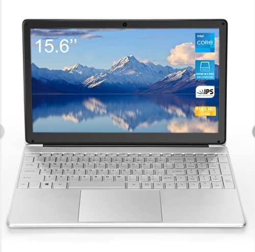Ordenador portátil de 15,6 pulgadas (Intel Celeron_J3455 64 Bits, 8 GB de RAM DDR3, 128 GB de SSD, batería de 10000 mAh, Webcam HD, 5G WiFi, Windows 10 OS preinstalado, pantalla 1920 x 1080 FHD IPS)