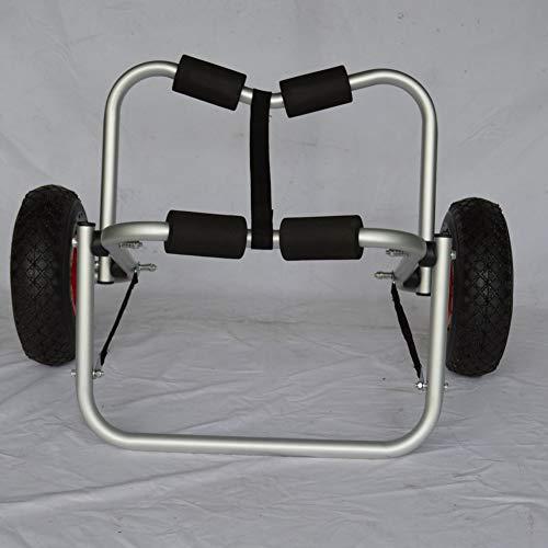 MROSW Kayak Zubehör Cart, verdickte 3MM Rohrwandaluminiumlegierung Kajak Anhänger, gebraucht Kajaks zu tragen, Kanus, Paddel-Boards, die Schwimmer und Boote, Can 100Kg Halten