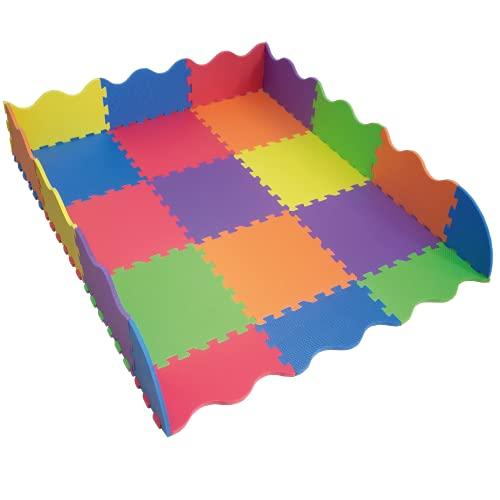 Tapete para Bebé Colores con Pared Perimetral | Piso Infantil de Juego | Tapetes de Espuma | Alfombra para Bebé | Foamy | Foami | Fomi