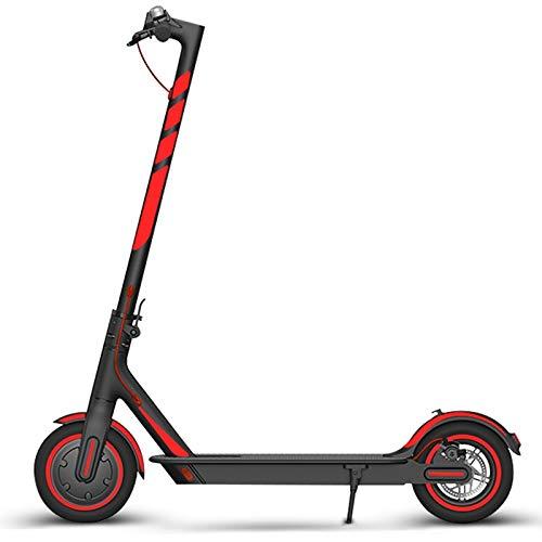 Growment 1 juego de pegatinas reflectantes para scooter, juego completo de pegatinas para patinete, pegatinas plegables (rojo)