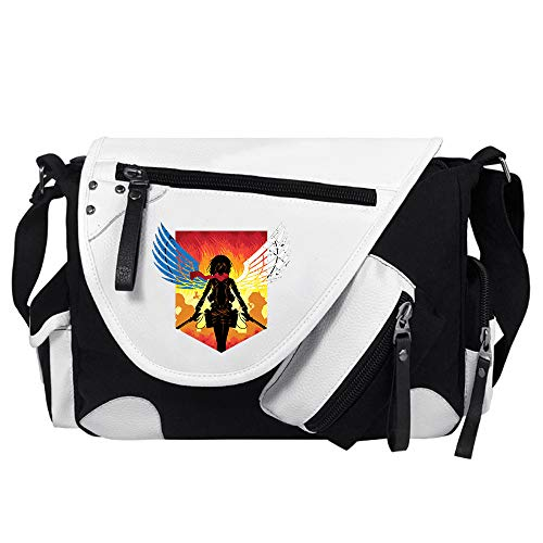 Attack on Titan Mochila Viaje Exquisita impresión de Hombro cómoda Bolsas Street Estilo del Ocio Crossbody Bolsa de Viaje Bolsa Mochilas Escolares (Color : White09,...