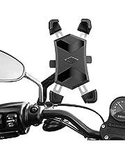 """HASAGEI Soporte Movil Moto Deportiva para 4.5"""" -7.2"""" Smartphones Anti Vibración Soporte Movil para Moto 360° Rotación (Estilo-A para el retrovisor Moto)"""