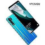 Y50 Pro Smartphone para Android 5.10 Pulgadas Pantalla Grande Dual SIM Dual Standby Azul EU