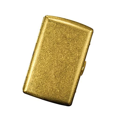 YYSSLL Caja de Cigarrillos de Metal Retro Cobre Flip Ultrafino portátil portátil 12-Pack Cigarrillos Caballeros Accesorios Esenciales (Color : Brass, Size : 90 * 52 * 20CM)