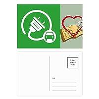 ビッグプラグエネルギー自動車の環境を保護する ハガキカード祝福日記バレンタインカード20枚