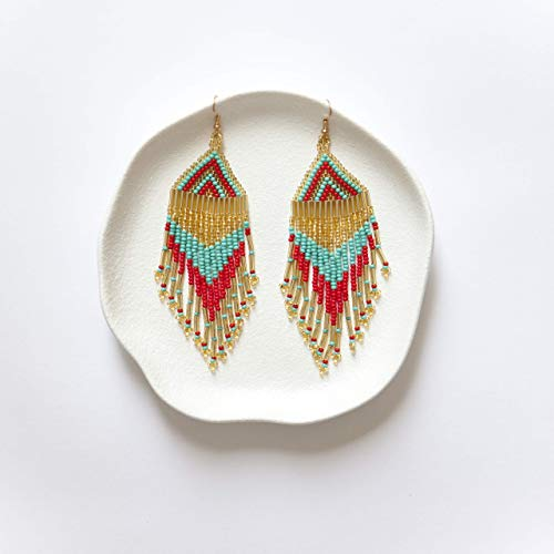 Top turquoise earrings beaded for 2021